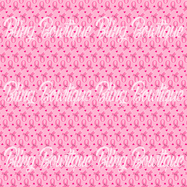 Breast Cancer 1 Printed Glitter Canvas, Regular Canvas, Faux Leather For Bows