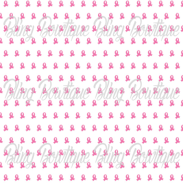 Breast Cancer 2 Printed Glitter Canvas, Regular Canvas, Faux Leather For Bows