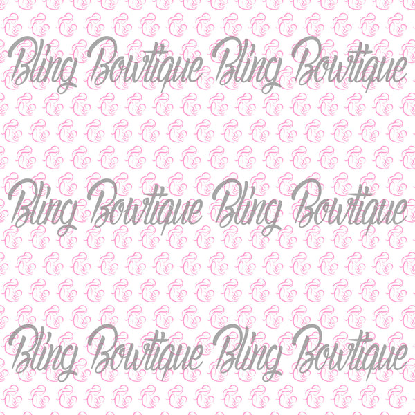 Breast Feeding Pink Glitter Canvas, Regular Canvas, Faux Leather For Bows