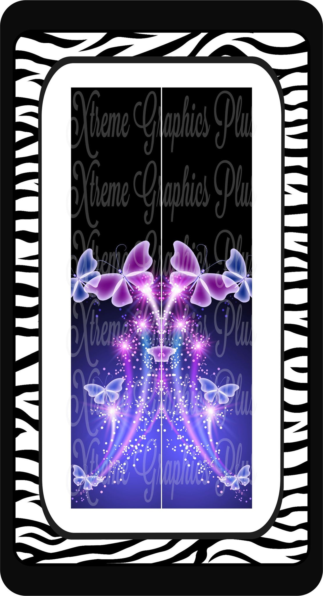 Butterfly Fantasy Ready to Press Sublimation Bow Strips