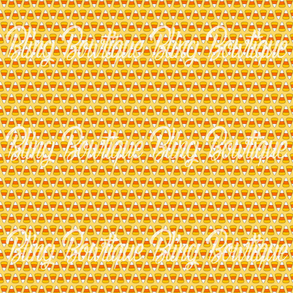Candy Corn 1 Printed Glitter Canvas, Regular Canvas, Faux Leather For Bows