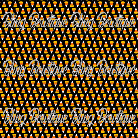 Candy Corn 3 Printed Glitter Canvas, Regular Canvas, Faux Leather For Bows