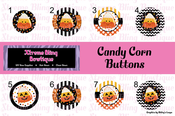 Candy Corn Button Flat Back, Pin Back, Magnet or Bottle Cap