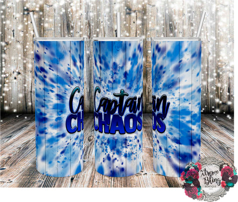 Captain Chaos Ready To Press Sublimation Print for 20oz Straight Skinny Tumbler or 20oz Tapered Skinny Tumbler