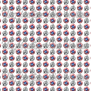 Captain America Printed Glitter Canvas, Regular Canvas, Faux Leather For Bows