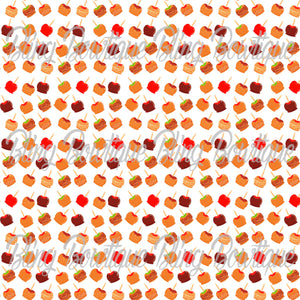 Caramel Apples Glitter Canvas, Regular Canvas, Faux Leather For Bows