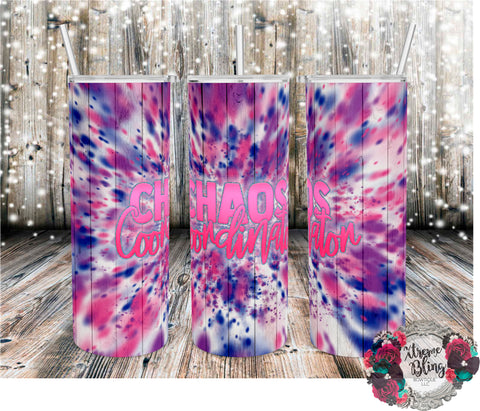 Chaos Coordinator Ready To Press Sublimation Print for 20oz Straight Skinny Tumbler or 20oz Tapered Skinny Tumbler
