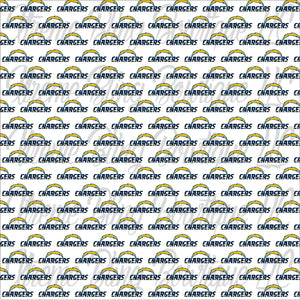 Los Angeles Chargers Glitter Canvas, Regular Canvas, Faux Leather