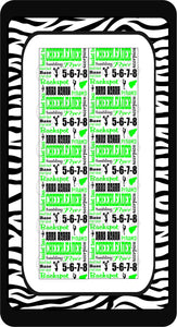 Cheer Subway Black, Lime, and White Ready to Press Sublimation Bow Strips