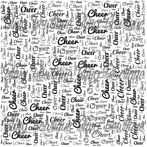 Cheer Words Collage Printed Glitter Canvas, Regular Canvas, Faux Leather For Bows