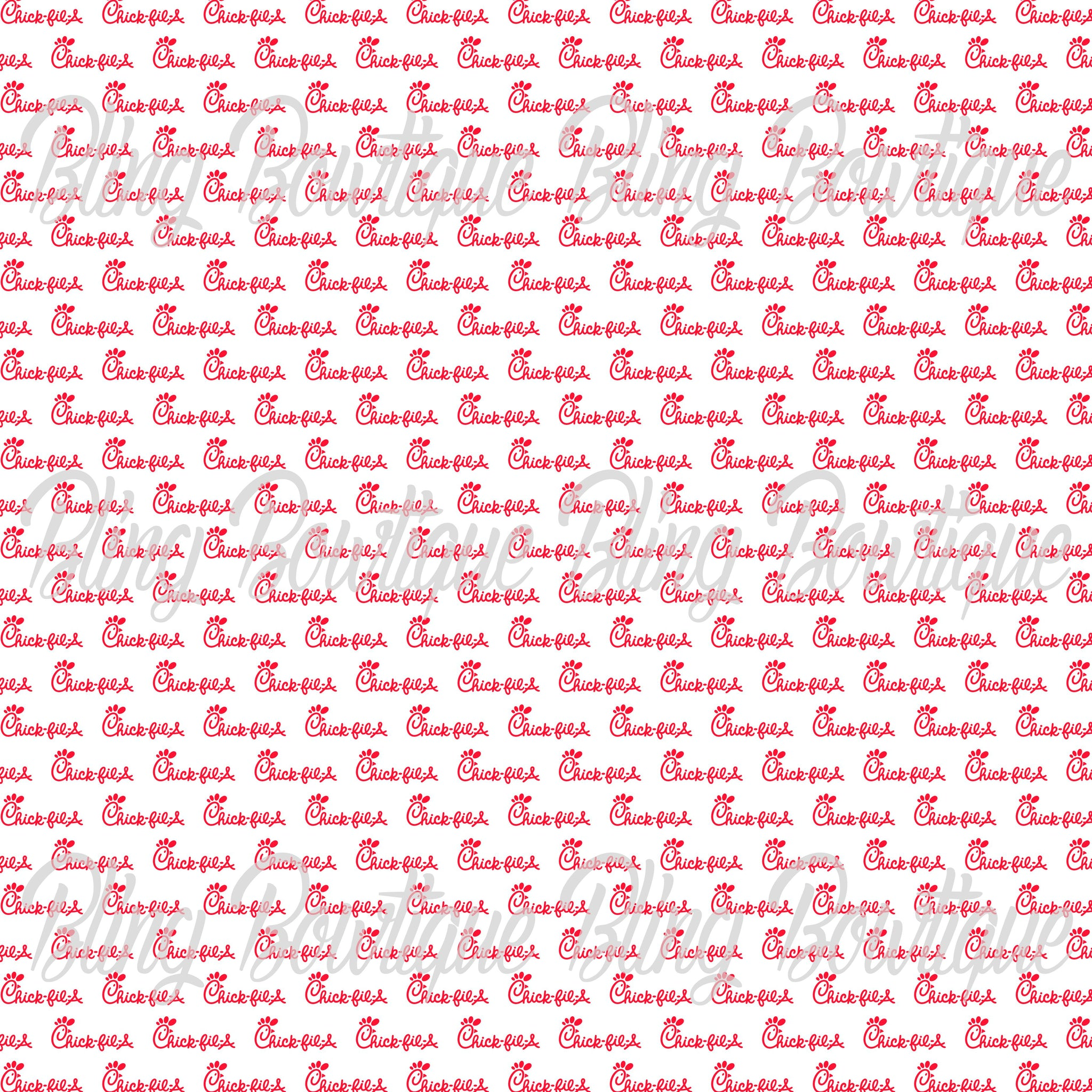 Chick Fil A 2 Glitter Canvas, Regular Canvas, Faux Leather For Bows