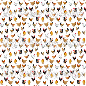Chickens Printed Glitter Canvas, Regular Canvas, Faux Leather For Bows