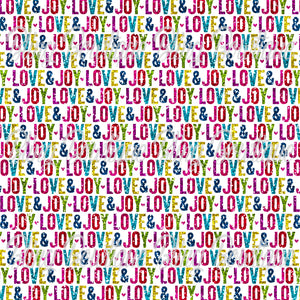Christmas Glitter Love and Joy Glitter Canvas, Regular Canvas, Faux Leather For Bows