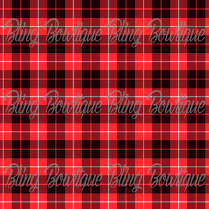 Christmas Tartan 10 Glitter Canvas, Regular Canvas, Faux Leather For Bows