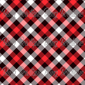 Christmas Tartan 12 Glitter Canvas, Regular Canvas, Faux Leather For Bows
