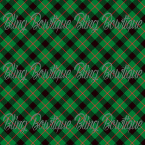 Christmas Tartan 14 Glitter Canvas, Regular Canvas, Faux Leather For Bows