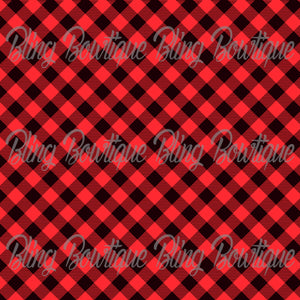 Christmas Tartan 2 Glitter Canvas, Regular Canvas, Faux Leather For Bows