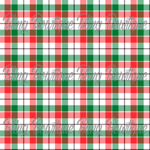 Christmas Tartan 3 Glitter Canvas, Regular Canvas, Faux Leather For Bows