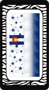 Colorado Flag 2 Ready to Press Sublimation Bow Strips