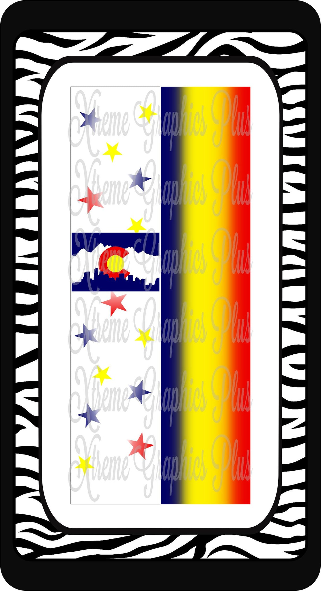 Colorado Flag 1 Ready to Press Sublimation Bow Strips