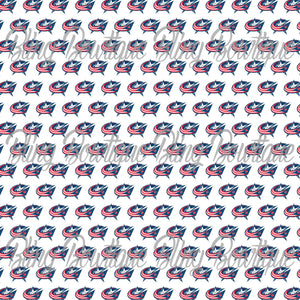 Columbus Blue Jackets Glitter Canvas, Regular Canvas, Faux Leather For Bows