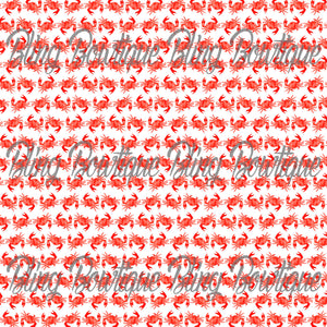 Crabs Glitter Canvas, Regular Canvas, Faux Leather For Bows