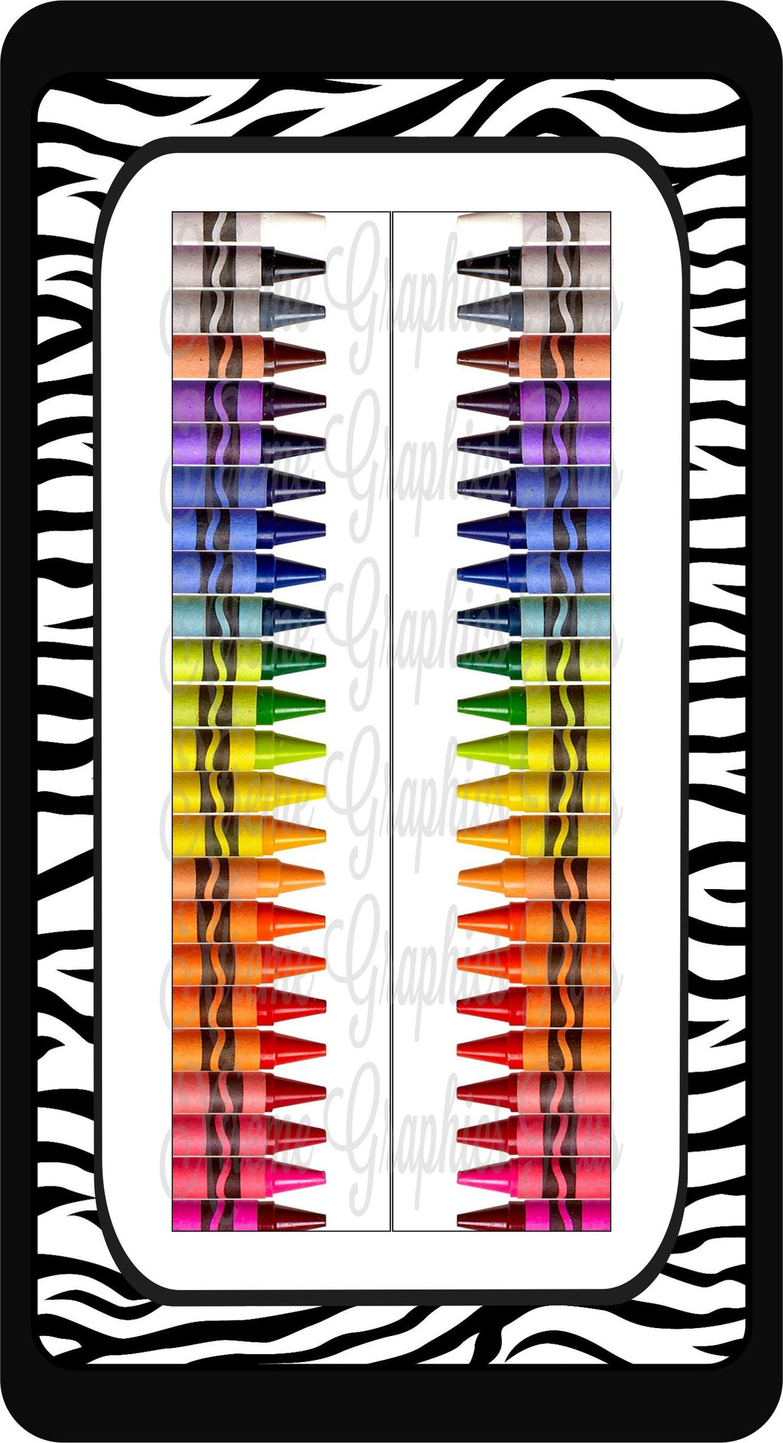 Crayons Ready to Press Sublimation Bow Strips
