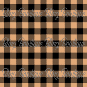 Cream/Tan Plaid Glitter Canvas, Regular Canvas, Faux Leather For Bows