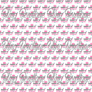 Daddy's Princess Glitter Canvas, Regular Canvas, Faux Leather For Bows