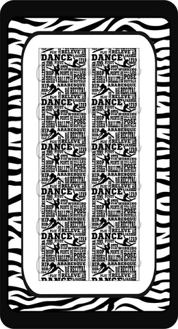 Dance Subway Art Ready to Press Sublimation Bow Strips