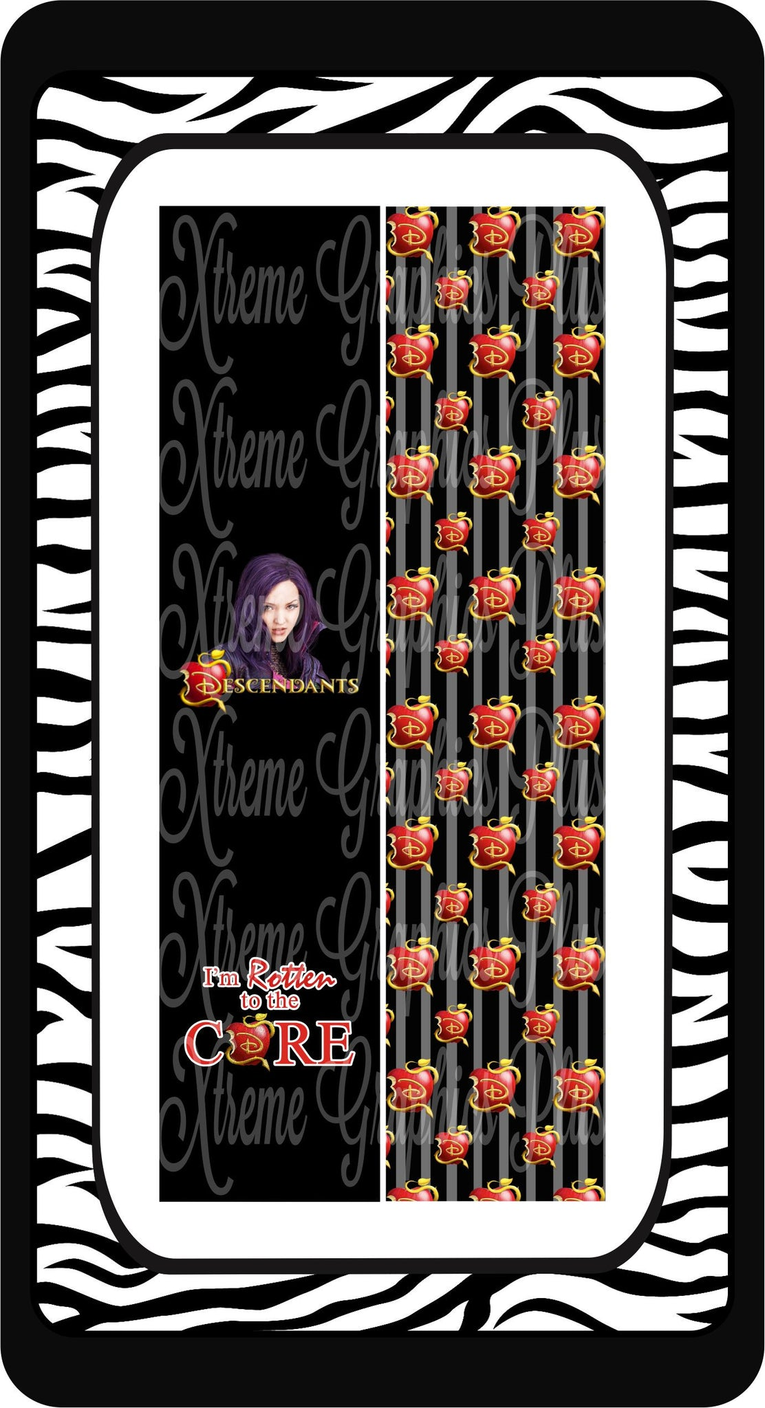 Descendants Black Ready to Press Sublimation Bow Strips