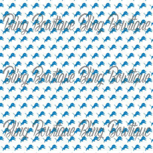 Detroit Lions Glitter Canvas, Regular Canvas, Faux Leather For Bows
