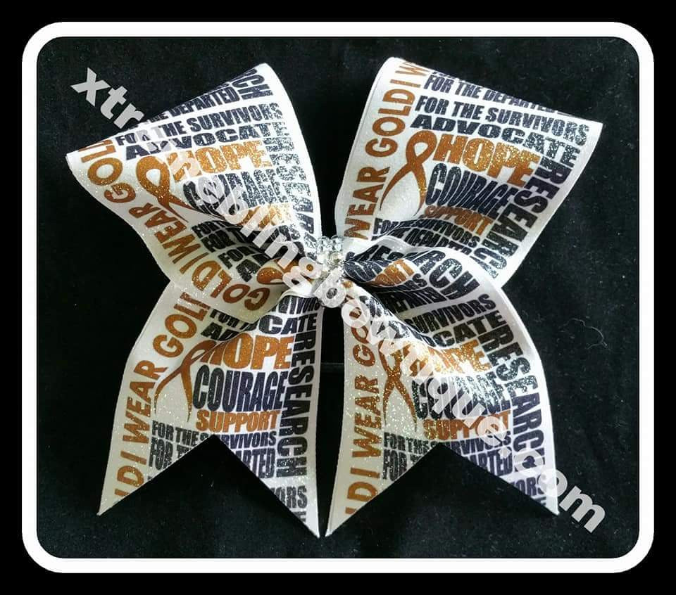 Child Cancer Awareness Cheer Bow