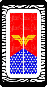 Wonder Woman Ready To Press Sublimation Bow Strips