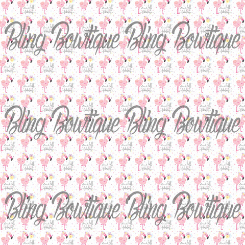 Fabulous Flamingos 1 Glitter Canvas, Regular Canvas, Faux Leather For Bows