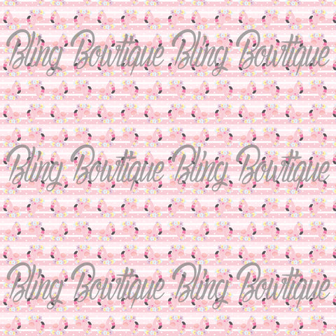 Fabulous Flamingos 2 Glitter Canvas, Regular Canvas, Faux Leather For Bows