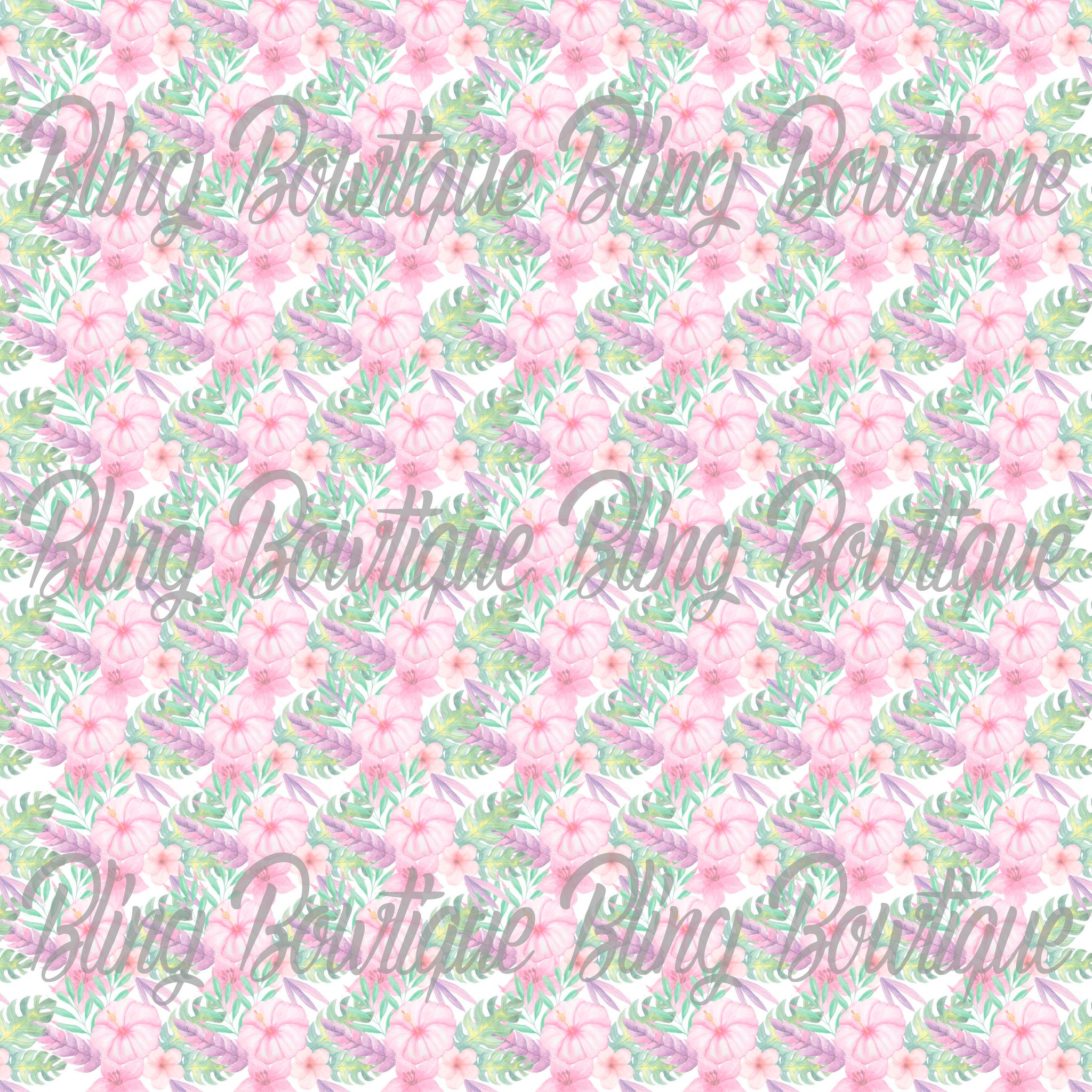 Fantastic Florals 11 Printed Glitter Canvas, Regular Canvas, Faux Leather For Bows