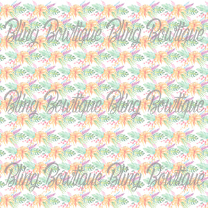 Fantastic Florals 19 Printed Glitter Canvas, Regular Canvas, Faux Leather For Bows