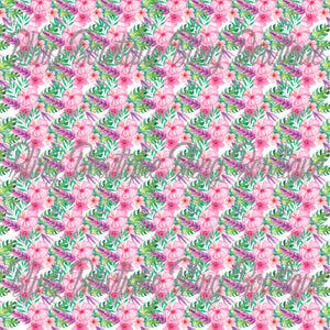 Fantastic Florals 1 Printed Glitter Canvas, Regular Canvas, Faux Leather For Bows
