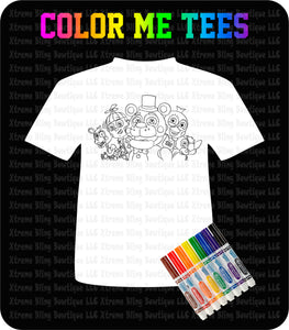 Color Me Tee-Five Nights at Freddys