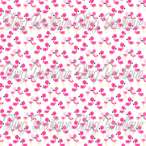 Flamingos 4 Glitter Canvas, Regular Canvas, Faux Leather