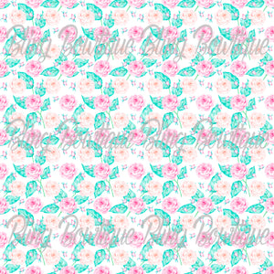 Floral Rose 3 Glitter Canvas, Regular Canvas, Faux Leather