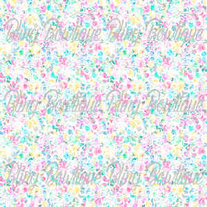 Floral Rose 7 Glitter Canvas, Regular Canvas, Faux Leather