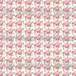 French Floral 1 Glitter Canvas, Regular Canvas, Faux Leather