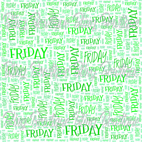 Friday Collage Printed Glitter Canvas, Regular Canvas, Faux Leather For Bows