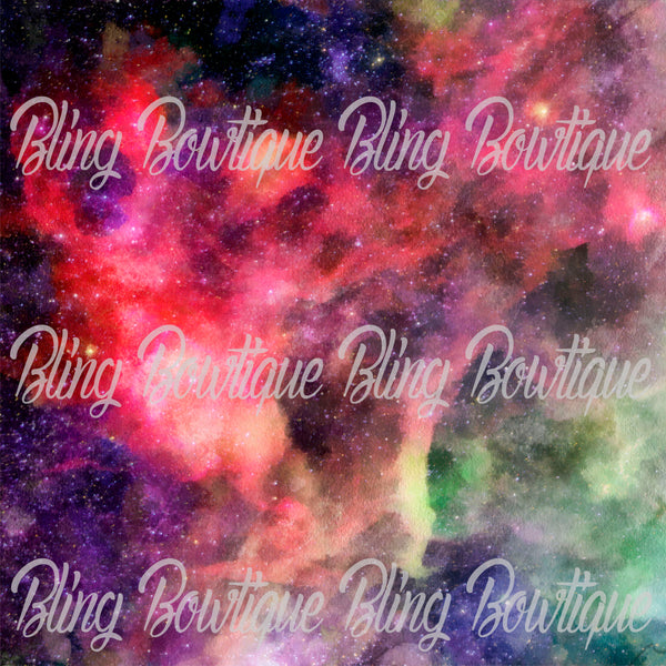 Galaxy 7 Glitter Canvas, Regular Canvas, Faux Leather For Bows