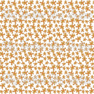 Gingerbread Man Glitter Canvas, Regular Canvas, Faux Leather For Bows
