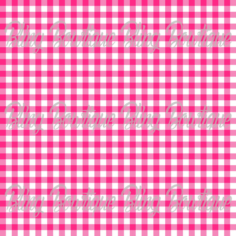Gingham 11 Glitter Canvas, Regular Canvas, Faux Leather For Bows