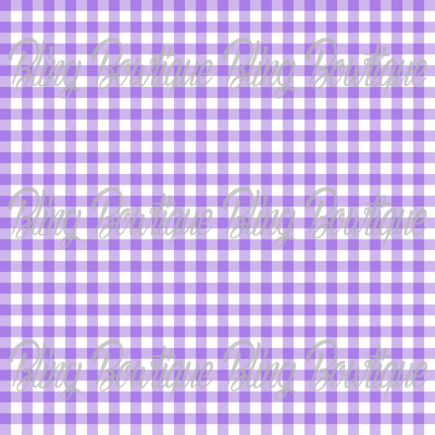Gingham 14 Glitter Canvas, Regular Canvas, Faux Leather For Bows