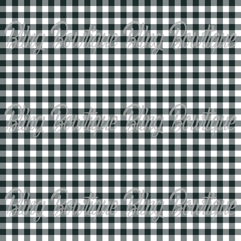 Gingham 19 Glitter Canvas, Regular Canvas, Faux Leather For Bows